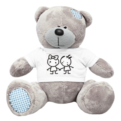 "Плюшевый мишка Тедди медведь ""Кикки и Коко"""