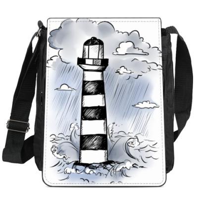 Сумка-планшет Черно-белый маяк