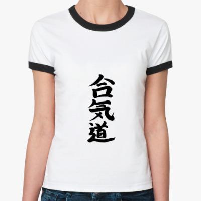 Женская футболка Ringer-T IEROGLIF