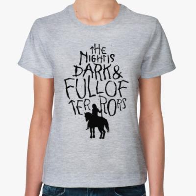 Женская футболка Игра престолов.Белые ходоки