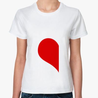 Классическая футболка винка сердца