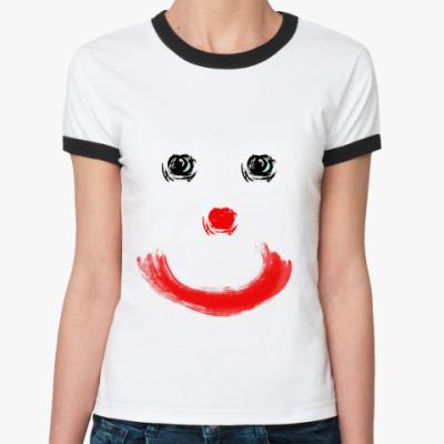Женская футболка Ringer-T клоун