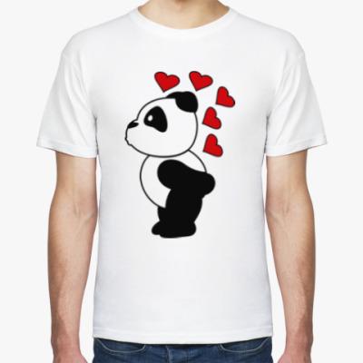 Футболка Влюбленный панда