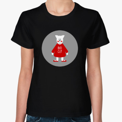 Женская футболка Red Cat