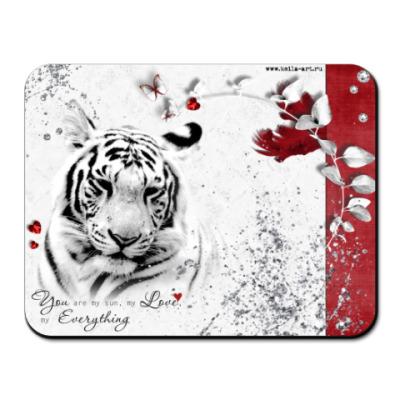 Коврик для мыши Tiger in love