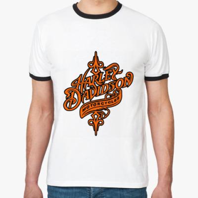 Футболка Ringer-T Harley-Davidson motorcycles