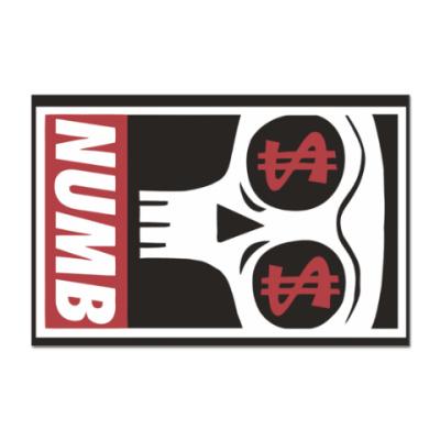 Наклейка (стикер) Numb
