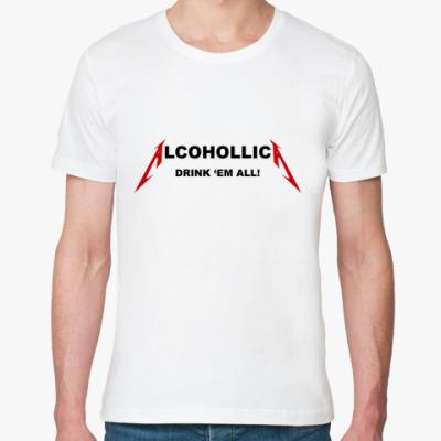 Футболка из органик-хлопка Alcohollica
