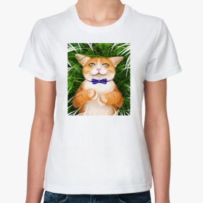 Классическая футболка кот, или про отдых
