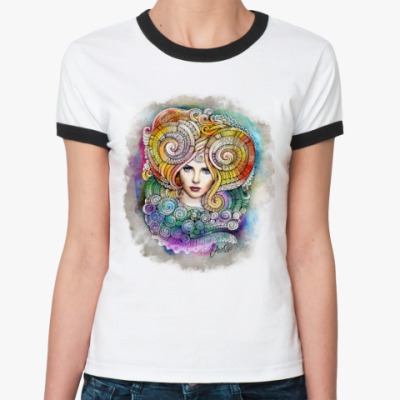 Женская футболка Ringer-T 'Овен'