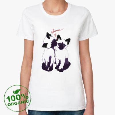 Женская футболка из органик-хлопка Котята