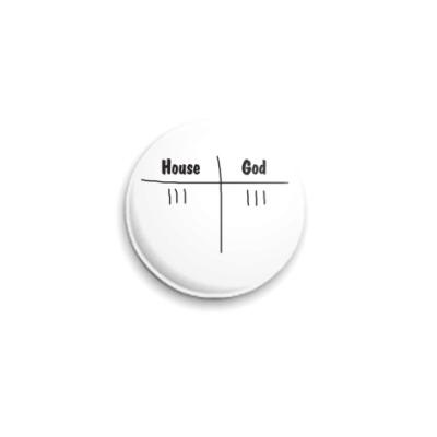Значок 25мм  25 мм Хаус