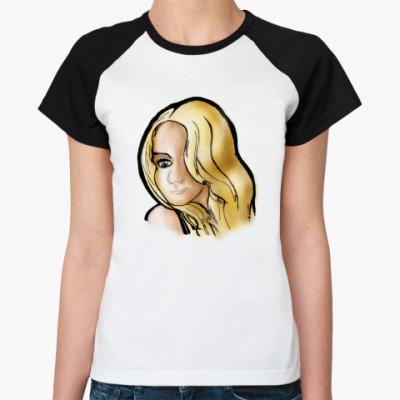 Женская футболка реглан Красавица