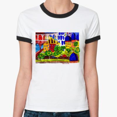 Женская футболка Ringer-T Иллюстрация