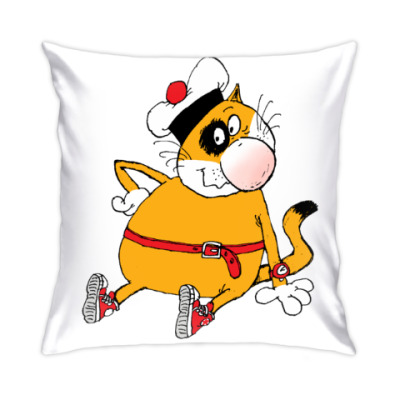 Подушка Кот Помпон: 'Присаживайся!'