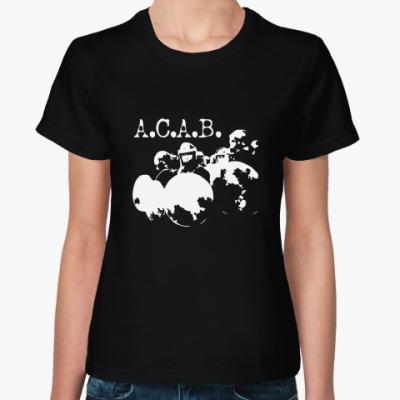 Женская футболка A.C.A.B.