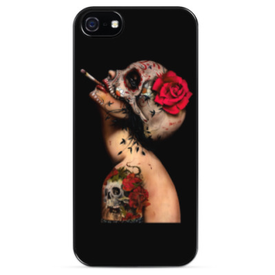 Чехол для iPhone Sugar skull girl