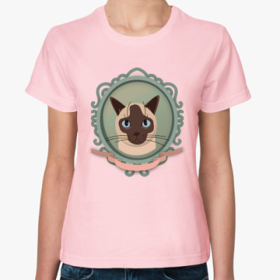 Женская футболка Сиамский кот