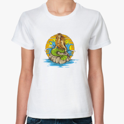 Классическая футболка Море. Сирена.