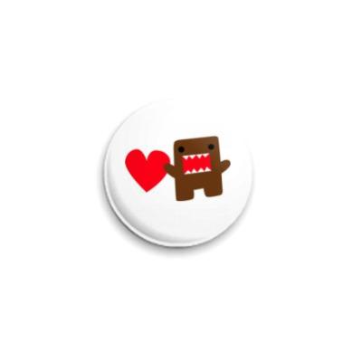 Значок 25мм  :медвежонок с сердцем