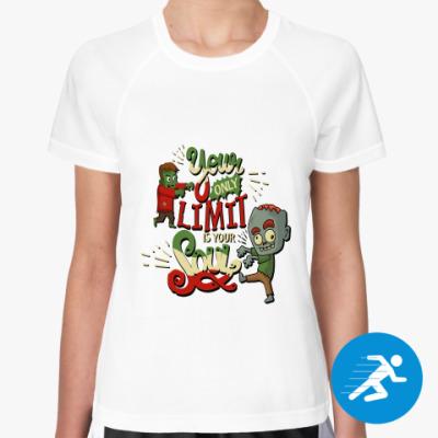 Женская спортивная футболка Философия зомби