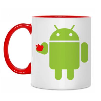 Кружка Андроид с яблоком