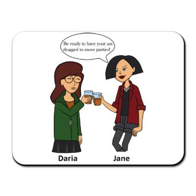 Коврик для мыши Daria and Jane
