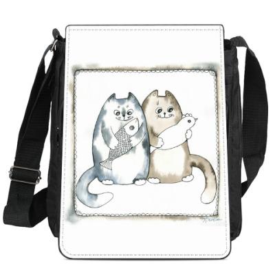 Сумка-планшет Благополучные коты