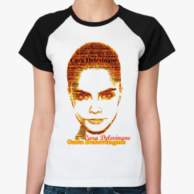 Женская футболка реглан Cara Delevingne/Кара Делевинь