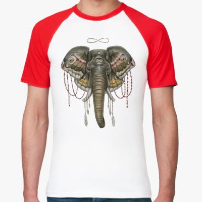 Футболка реглан Индийский слон