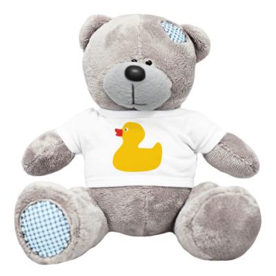 Плюшевый мишка Тедди Резиновая уточка