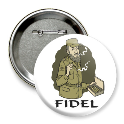 Значок 75мм Fidel