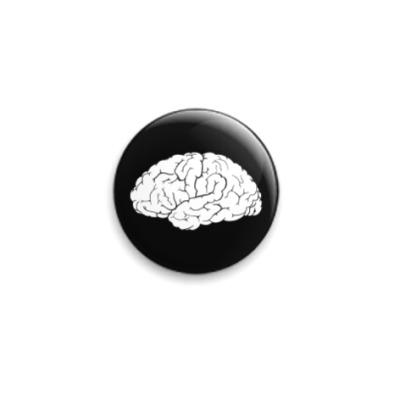 Значок 25мм Мозг