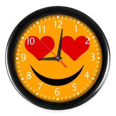 Часы Смайлик Любовь