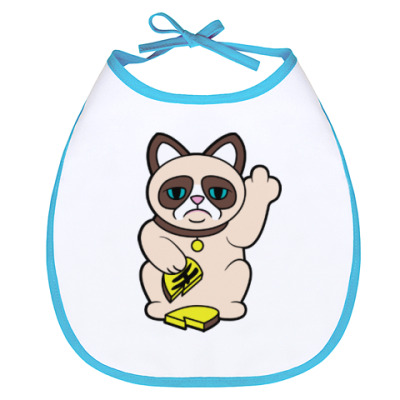 Слюнявчик Tard Grumpy Cat Maneki Neko