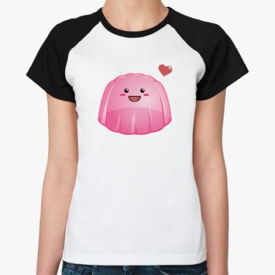 Женская футболка реглан Желе