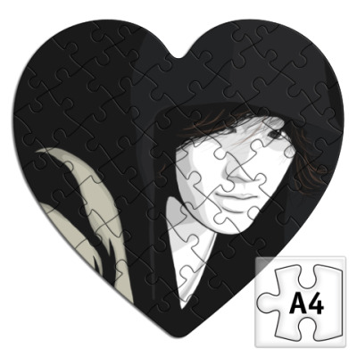 Пазл  сердце Джин
