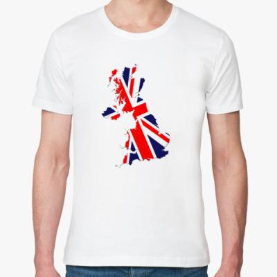 Футболка из органик-хлопка  Британский флаг