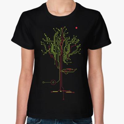 Женская футболка Дерево