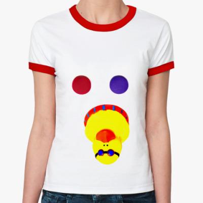 Женская футболка Ringer-T Красную или синюю?