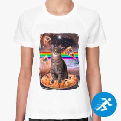 Женская спортивная футболка Космический кот