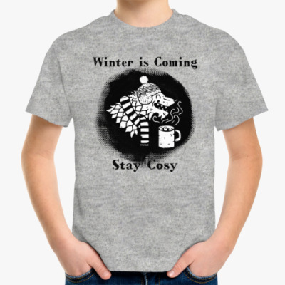 Детская футболка Игра престолов.Зима близко