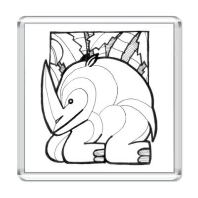 Магнит Носорог