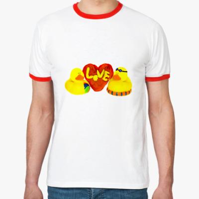 Футболка Ringer-T Утиная любовь