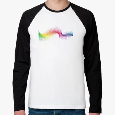 Футболка реглан с длинным рукавом  'Pixel Rainbow'