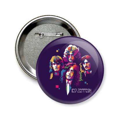 Значок 58мм Led Zeppelin