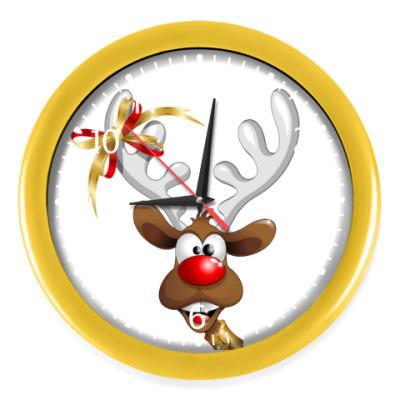 Настенные часы Часы, желтые (белые цифры)