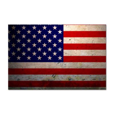 Наклейка (стикер) Американский Флаг