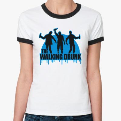 Женская футболка Ringer-T Ходячие выпивалы