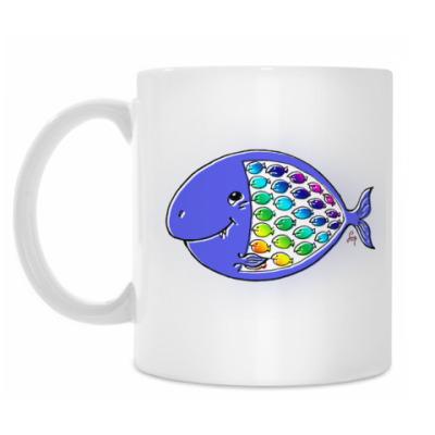 Кружка Сытая-голодная рыбка